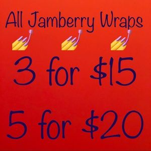 3 for $15 or 5 for $20 ~ ALL JAMBERRY NAIL WRAPS!